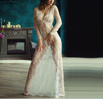 Nude Women Transparent Lace Evening Dress With Hot Girl Sxe Hoto ... b5cfc8c9f