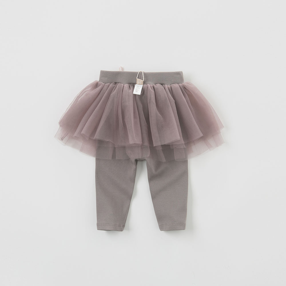 DB5510 dave bella spring summer baby pants kids trousers girls pants with ruffles tutu pants