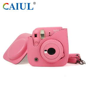New Style Cute professional Fujifilm instax mini 9 / mini 8 / 8+ leather camera bag