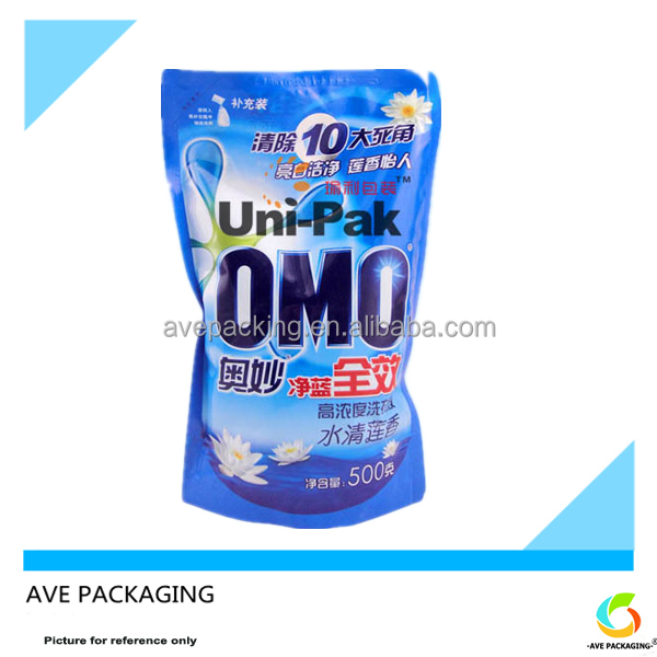 Plastic bags color printing packaging bags plastic bag for laundry powder