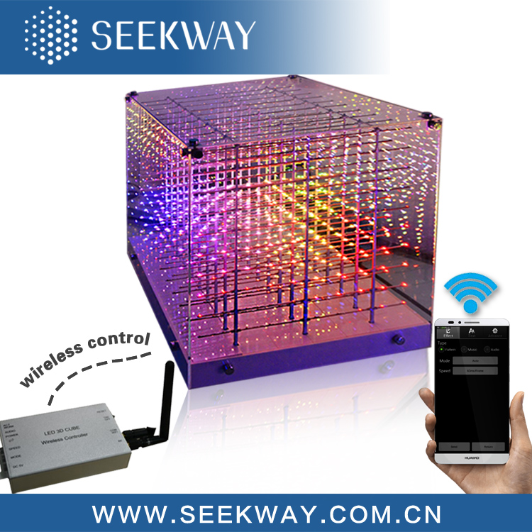 Patented Wireless Control 3d Led Cube Rgb In Led Display