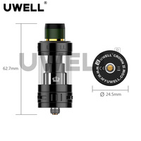New design 5ml sub ohm tank new arrival Uwell Crown 3 for best selling vape mods 2017