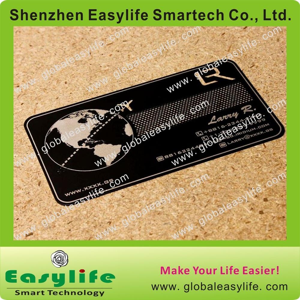 Custom Cheap Metal Business Cards China Brushed Glossy Matt Black ...