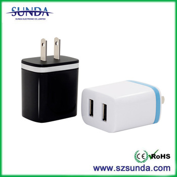 5v 2a daul usb port 3g universal travel charger for mobile phone