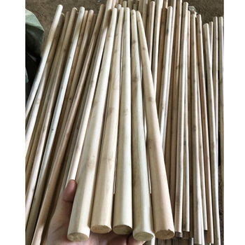 Wholesale custom 110x2.2/120x2.2/120x2.5/150x2.5 natural wooden broom wooden pipes