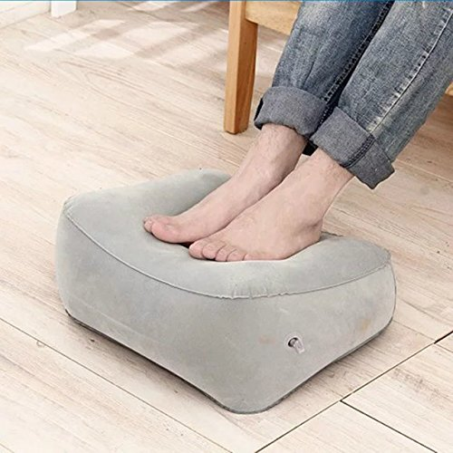 Get Quotations Great Deal Inflatable Pillow Cushion Foot Rest For Air Travel Office Home Leg Up