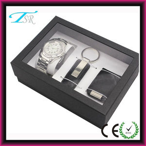 2013 Hot watches, keychain and money clip mixed gift set packed in a window box