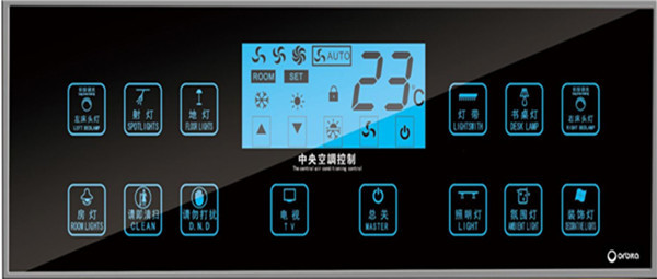 2015 Touch Screen Smart Wall Switch Hotel Bedside Control