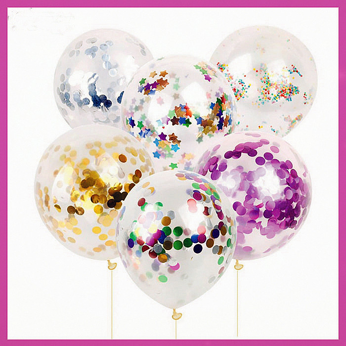 2018 Hot 18 Inch Transparent Latex Colorful Confetti Balloons Cheap Latex Free Balloon
