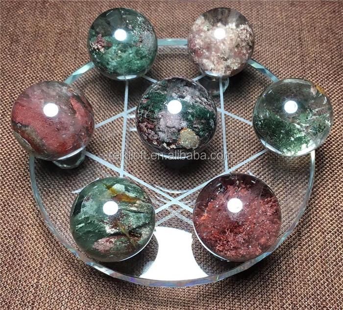 Lodalite Garden Quartz Crystal Stone Ball Spheres Chakra Set , Buy Crystal  Ball,Chakra Stones,Green Phantom Quartz Crystal Ball Product on Alibaba.com