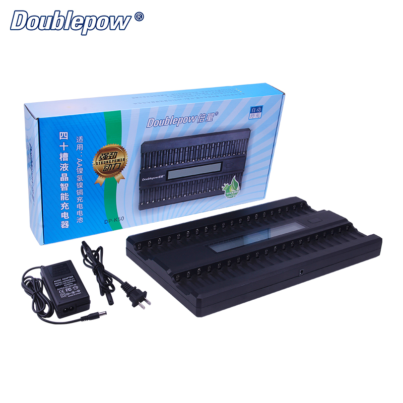 40 Slots K50 12V 2A LCD Intelligent Rapid Battery Charger for 1.2V AA Ni-MH/Ni-CD KTV Dedicated Microphone