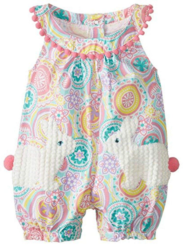 0f870d895cdd Get Quotations · Mud Pie Baby-Girls Bunny Pocket Romper