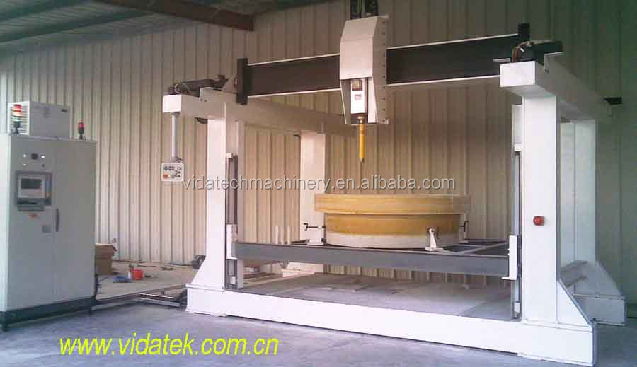 3 axis GRP pipe fitting making machine