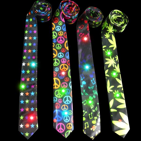 souvenir led christmas necktie with music 76cm light up christmas necktie with sound - Light Up Christmas Tie