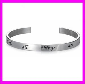KDA2427 Wholesale Alibaba Message Inspire Bangle Cuff Bracelet
