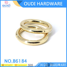 High quality light gold o ring belt buckle Solid stainless steel o ring