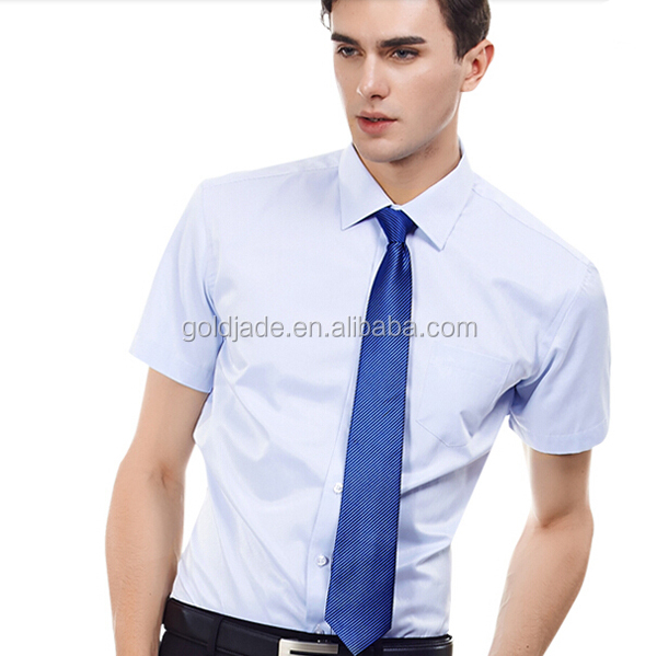 Embroidered Dress Shirts For Men Fashion Dresses Korean Style Mens Office Shirt Short Sleeve