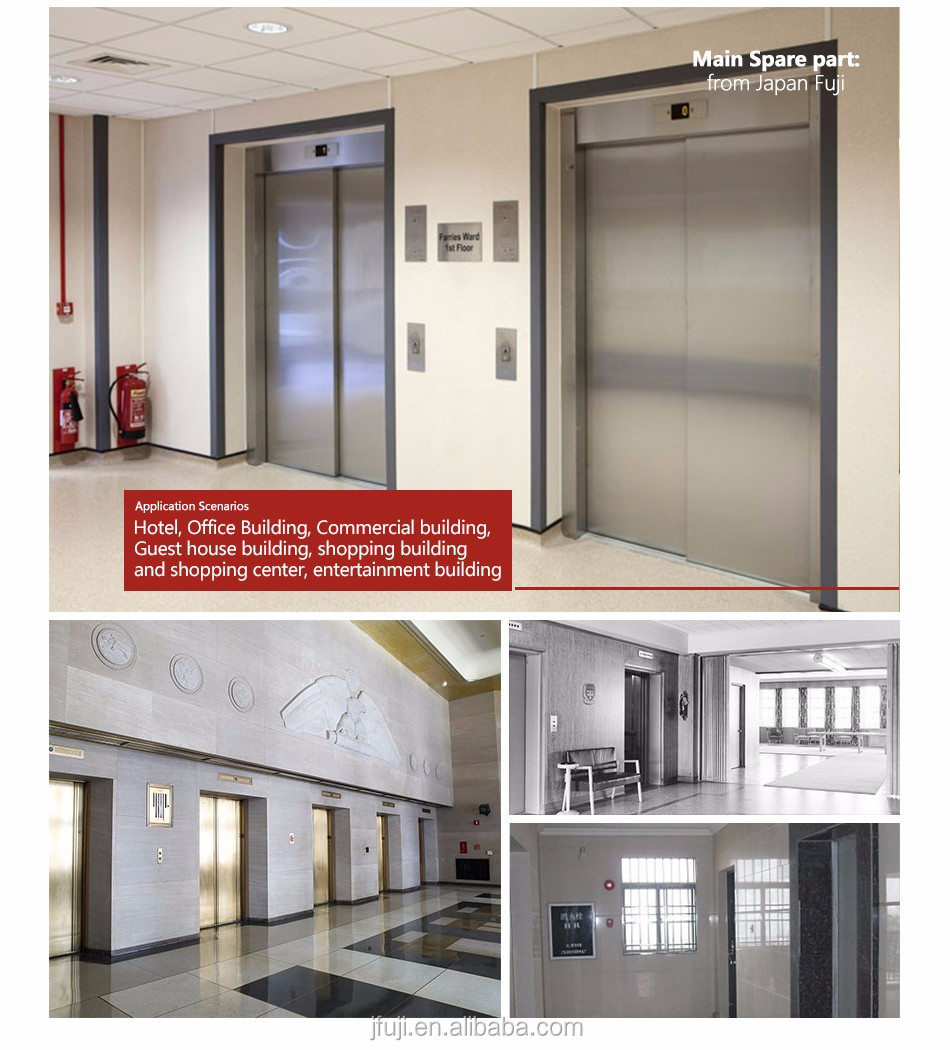 Safe Rescue Means -FUJI elevator brands quality fire rated elevator for office buidling high-rise