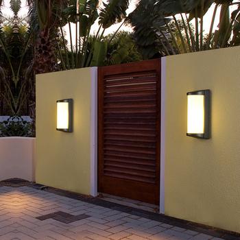 Attractive Outdoor Garden Wall Lamp E27 5w 10w 20 Led Led Boundary Solar Wall Light  Sensor Wall