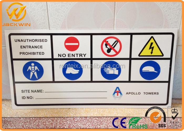 métal//aluminium sécurité avertissement UV Imprimé Signes Danger chantier signe