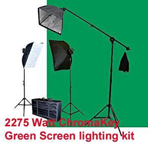 AGG797V2 White Black Green Chroma key Muslin Backdrops, 2 Limo Studio Photography Chroma key Studio Backdrop Lighting Kit Set Umbrella Reflector Studio Lighting Backdrop Support Stand with Carry Bag