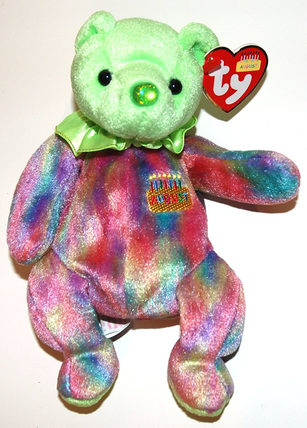 Buy TY Beanie Babies Peridot August Birthday Bear Plush Toy Stuffed ... 9b23cd894b75