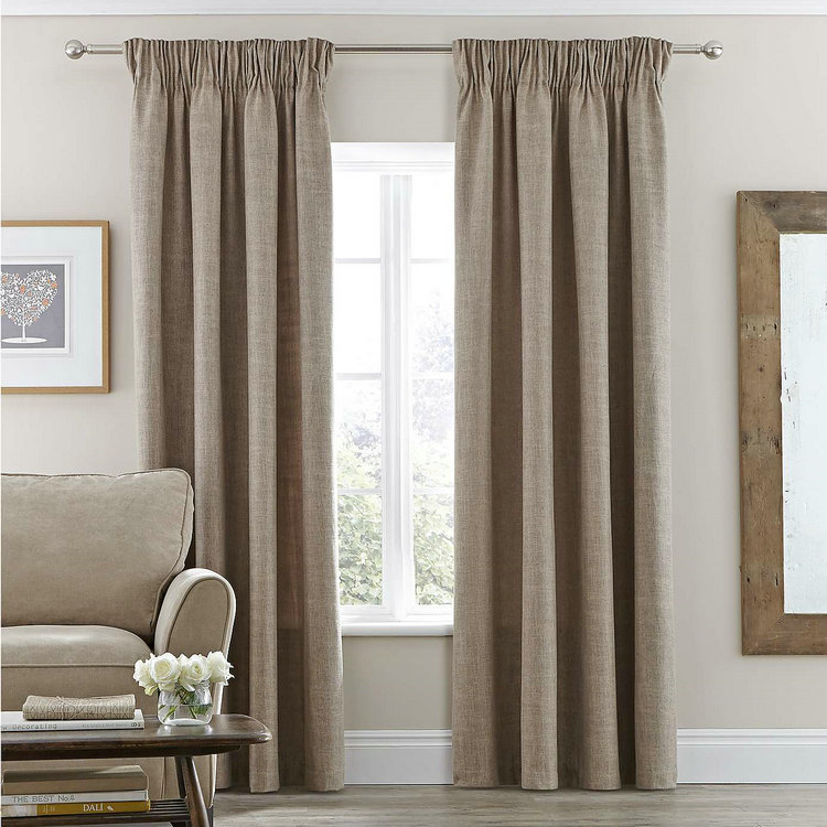 Home Goods Store Lined Pencil Pleat Curtains