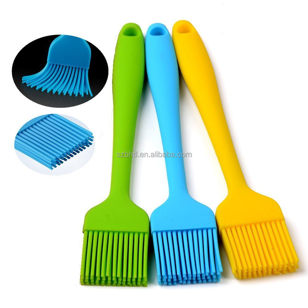 Amazon Top Selling Silicone BBQ Brush With Stainless Steel Core