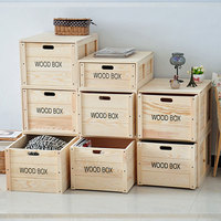 living room stackable wooden cloth or shoes storage crate box with drawer