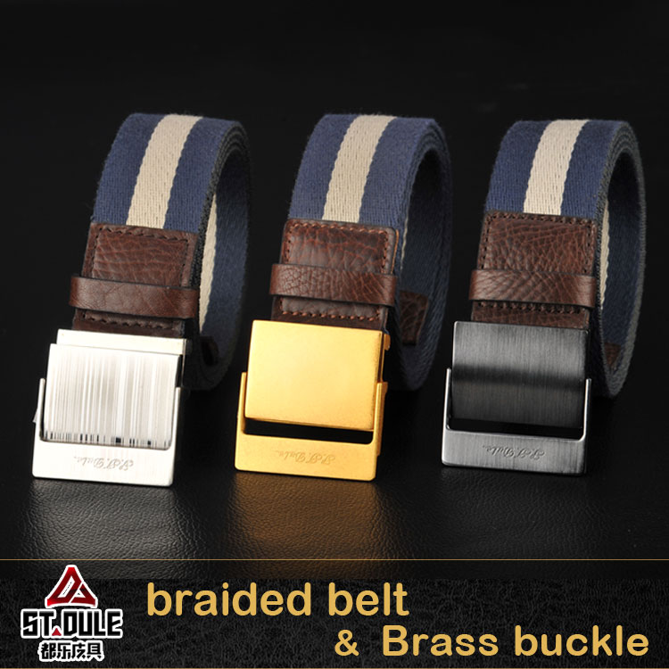 40mm belly velcrowaist elastic belt with copper buckle
