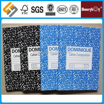 Black/blue Marble 8.5mm Single Line Ruled Standard Composition ...