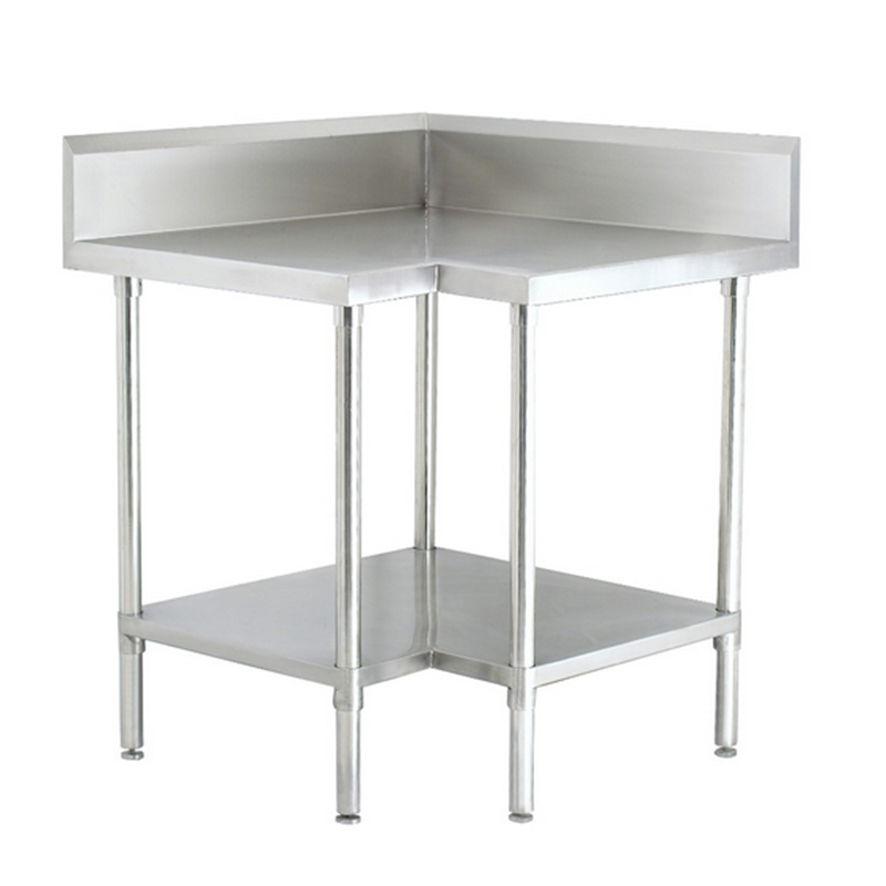 Commercial Kitchen Used Stainless Steel Corner Workbench/Table