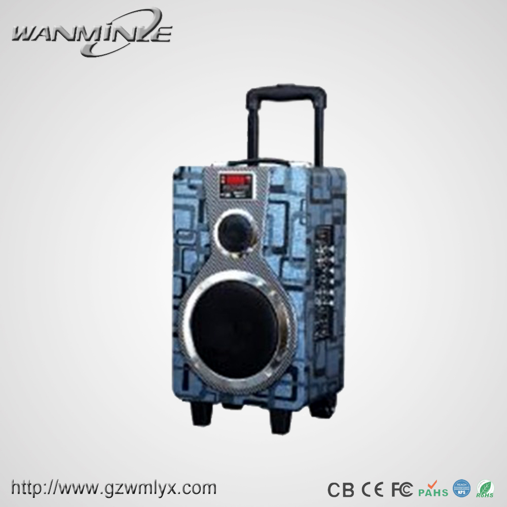 New Fashional Trolly 8bass Portable Speaker Box Amplifier With Speech Bluetooth Buy Speakers Remote Control8 Bass Led