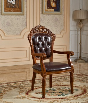 Hand Teak Solid Wood Carving Classic Dining Designs Double Wood Chair