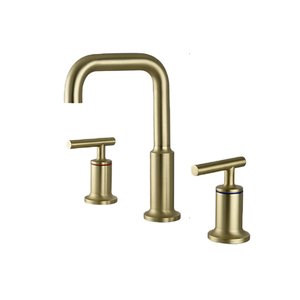 Three holes 304 stainless steel faucet brushed gold bathroom basin sink faucet