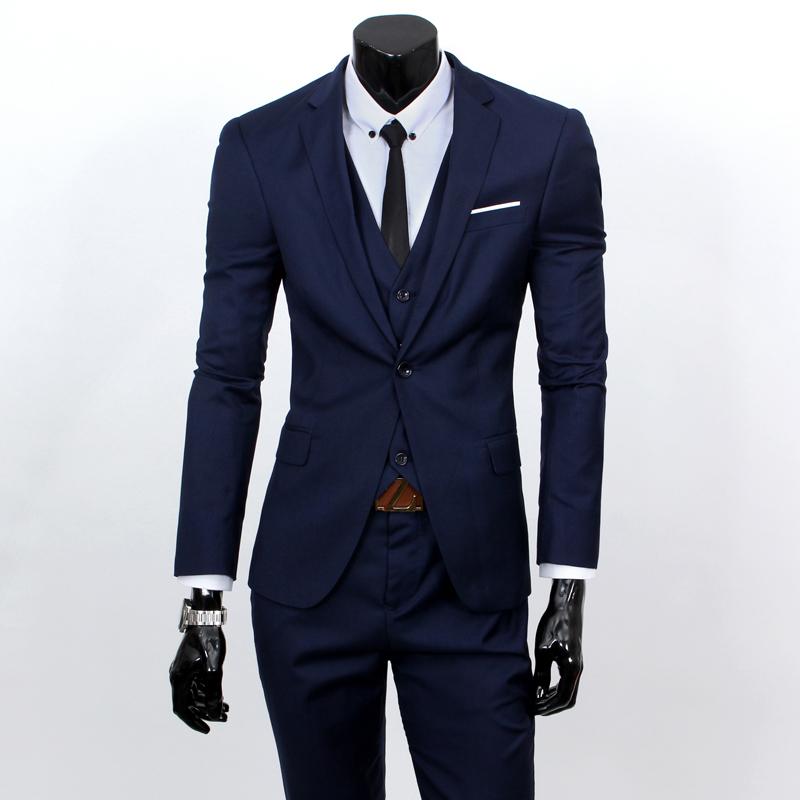 135f0108d857b Хороший онлайн магазин: ( Жилет костюм брюки ) мужчины в три частей  официальный пиджак костюм / вилочная часть костюм из бизнес костюмы
