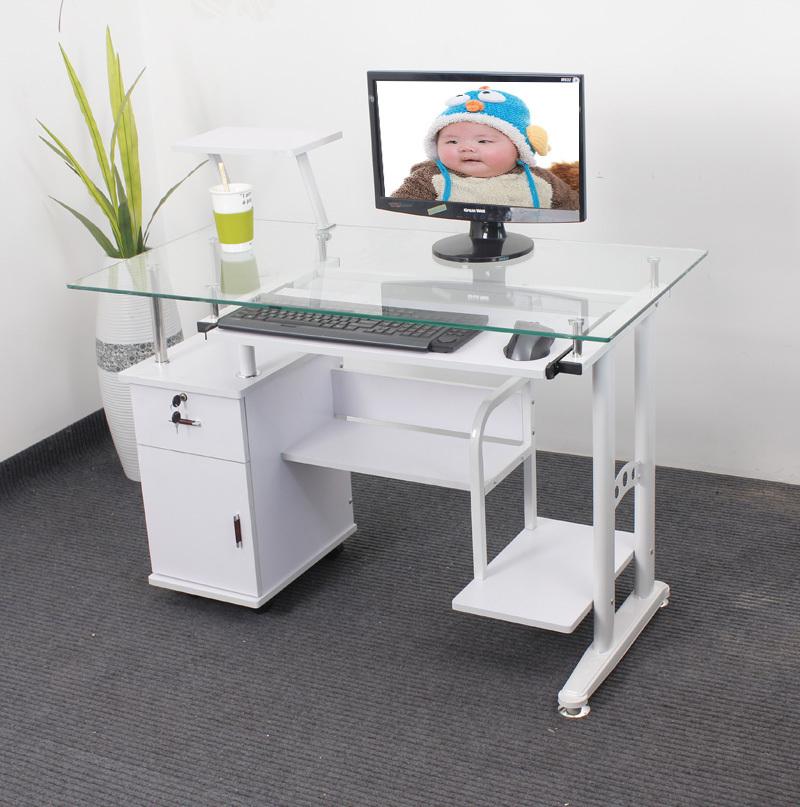 pas cher chine peut tremp verre bureau d 39 ordinateur ordinateur de bureau domicile bureau. Black Bedroom Furniture Sets. Home Design Ideas