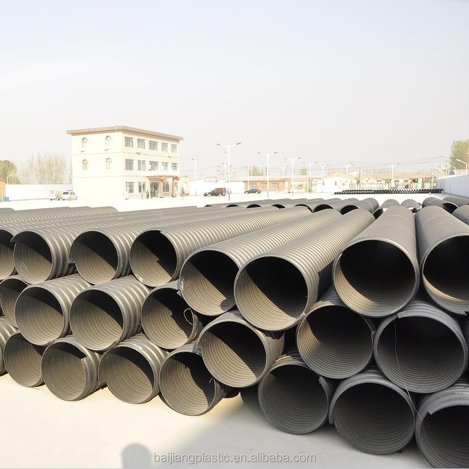 Metal reforzado corrugado tubo de drenaje de pl stico de for Tubo corrugado reforzado