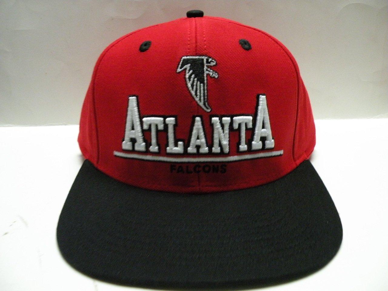0f52cc802 Get Quotations · NFL Atlanta Falcons Bold Red Black 2 Tone Retro Snapback  Cap