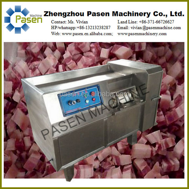 Pasen Machinery Frozen Meat Dicer Machine, Meat Cube Cutting Machine, Beef Chicken Meat Cube Dicer Dicing Machine