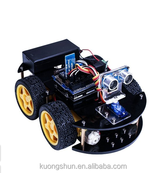 UNO Project Smart Robot Car Kit with Four-wheel Drives, Link Tracking Module