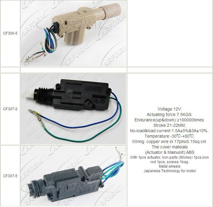Hot Selling 2 And 5 Wire Power Door Lock Actuator For ...