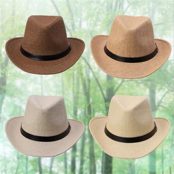 6f8e930434893 Women Men Neon Strip Straw Boho Fedora Beach Panama Hat - Buy ...