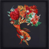 Wall Art Home Decoration Paper Collage Fish With Flower