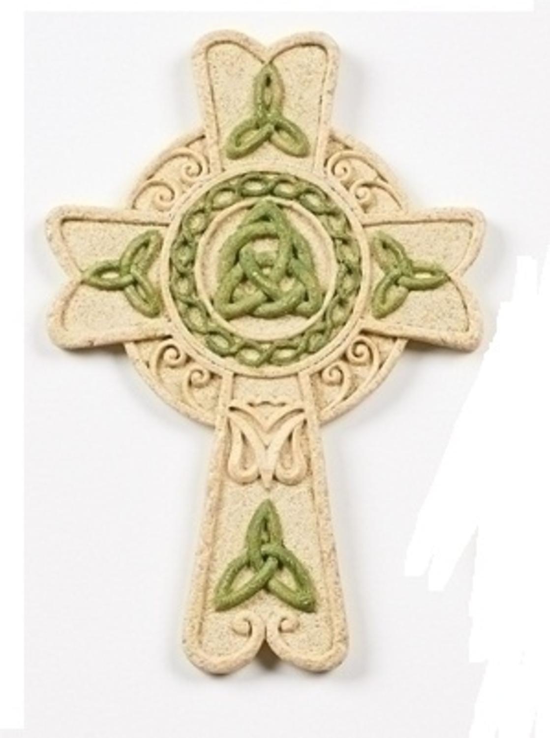 "6.5"" Faithstone Irish Inspired Celtic Knot Accented Wall Cross"