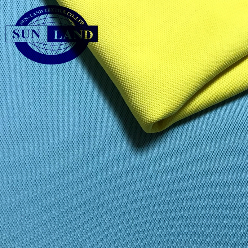 Chinese manufacturer fabric in stock Ready to ship 100 polyester coolpass active double pique moisture absorbing mesh fabric