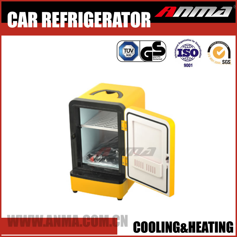 5L car refrigerator DC 12V and AC 100V-240V cooler & warmer mini portable fridge freezer