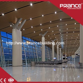 Suspended Aluminum Strip False Ceiling Design