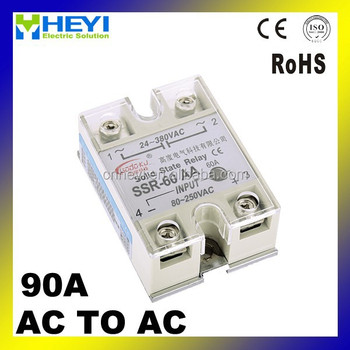 Ssr Relay 90a Single Phase Solid State Relay Input 80250v Load