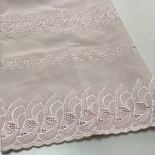 Custom Lace Embroidery Fabric 100% Polyester